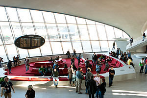 Conversation pit - Saarinen's restored conversation pit at the TWA Flight Center
