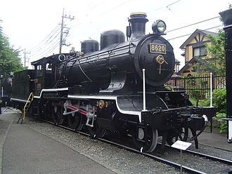 Japan Railways locomotive numbering and classification - Steam locomotive number 8620, the first locomotive of Class 8620