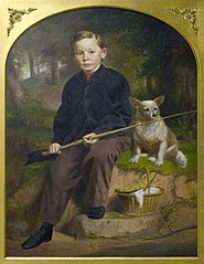 Portrait of Charles H. Brewer (Boy Fishing with Dog)
