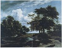 Jacob van Ruisdael - Wooded Landscape with a Pond and Shepherds.jpg