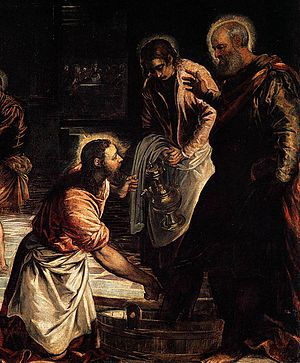 Christ Washing the Feet of His Disciples ( )