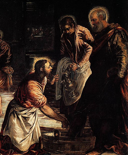 Jacopo Tintoretto - Christ Washing the Feet of His Disciples (detail) - WGA22428