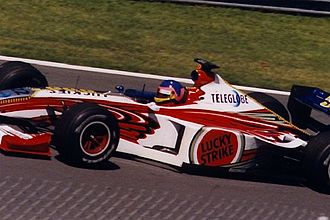 British American Racing - Jacques Villeneuve driving for BAR at the 1999 Canadian Grand Prix.