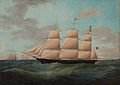 "James E. Buttersworth - Painting of the fullrigger ""United States"".jpg"