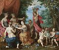 Jan Brueghel the Younger and Hendrick van Balen - A Bacchanal With Ceres, Bacchus And Venus.jpg