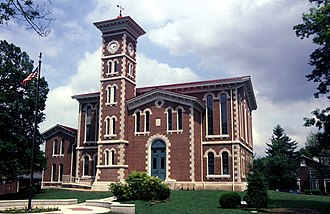 Vernon, Indiana - Jennings County courthouse in Vernon