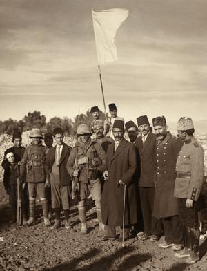 Hussein al-Husayni - al-Husayni under the white flag of surrender, 9 December 1917 at 8 a.m.