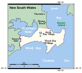 a map of Jervis Bay Territory