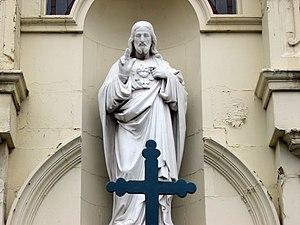 Jesus Christ figure in London.