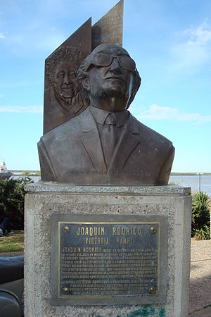 English: Bust of the Spanish composer Joaquín ...