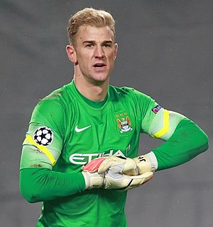 Joe Hart - Hart playing for Manchester City in 2014