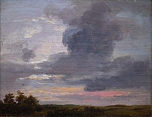 Cloud Study over flat Landscape