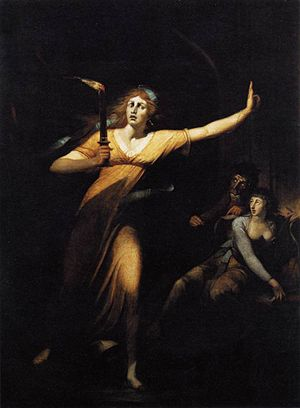 Lady Macbeth - The Sleepwalking Lady Macbeth by Johann Heinrich Füssli, late 18th century. (Musée du Louvre)