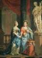 Johann Heinrich Tischbein - Philippine of Brandenburg-Schwedt and her sister Friederike Dorothea.png