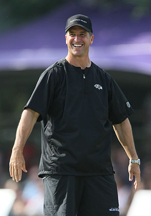 John Harbaugh - Harbaugh at 2009 Ravens training camp