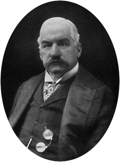 J. P. Morgan, American financier, banker, philanthropist and art collector