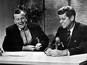 United States presidential election in New York, 1960 - Jack Paar interviewing John F. Kennedy on New York City's The Tonight Show, 1959.