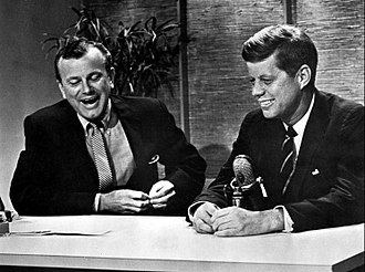 Jack Paar - Paar (left) with John F. Kennedy on The Tonight Show in 1959