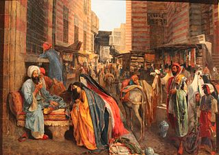 Street Scene near the El Ghouri Mosque in Cairo