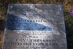 John Frederick Frelinghuysen - Image: John Frelinghuysen gravestone image taken on January 9, 2004