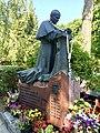 John Paul II Monument, Krakow Military cemetery, Poland, 2015.jpg