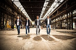 Das Bild zeigt die Band JohnsEn im Juli 2015 (v. l. n. r. Tobias Schiffels, Christoph Thul, Daniel Veldkamp und Marcel Eis)