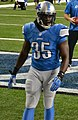 Joique Bell warming up before a Detroit Lions football game on 2013-09-29.jpg