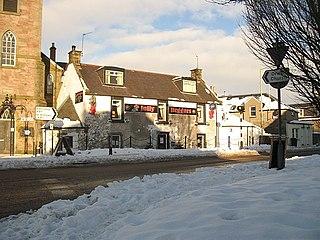 Milnathort village in the United Kingdom
