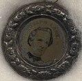Joseph Lane campaign button in 1860, from- Breckinridge-Lane Campaign Items, ca. 1860 (4359372913) (cropped).jpg