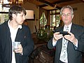 Josh Timonen and Richard Dawkins (with iPhone).jpg