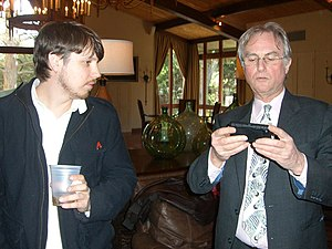The Greatest Show on Earth: The Evidence for Evolution - Image: Josh Timonen and Richard Dawkins (with i Phone)
