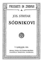 Josip Stritar: Sodnikovi
