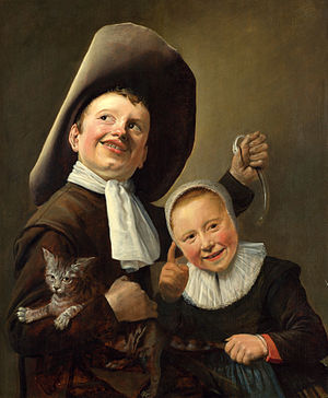 Judith Leyster A Boy and a Girl with a Cat and an Eel.jpg