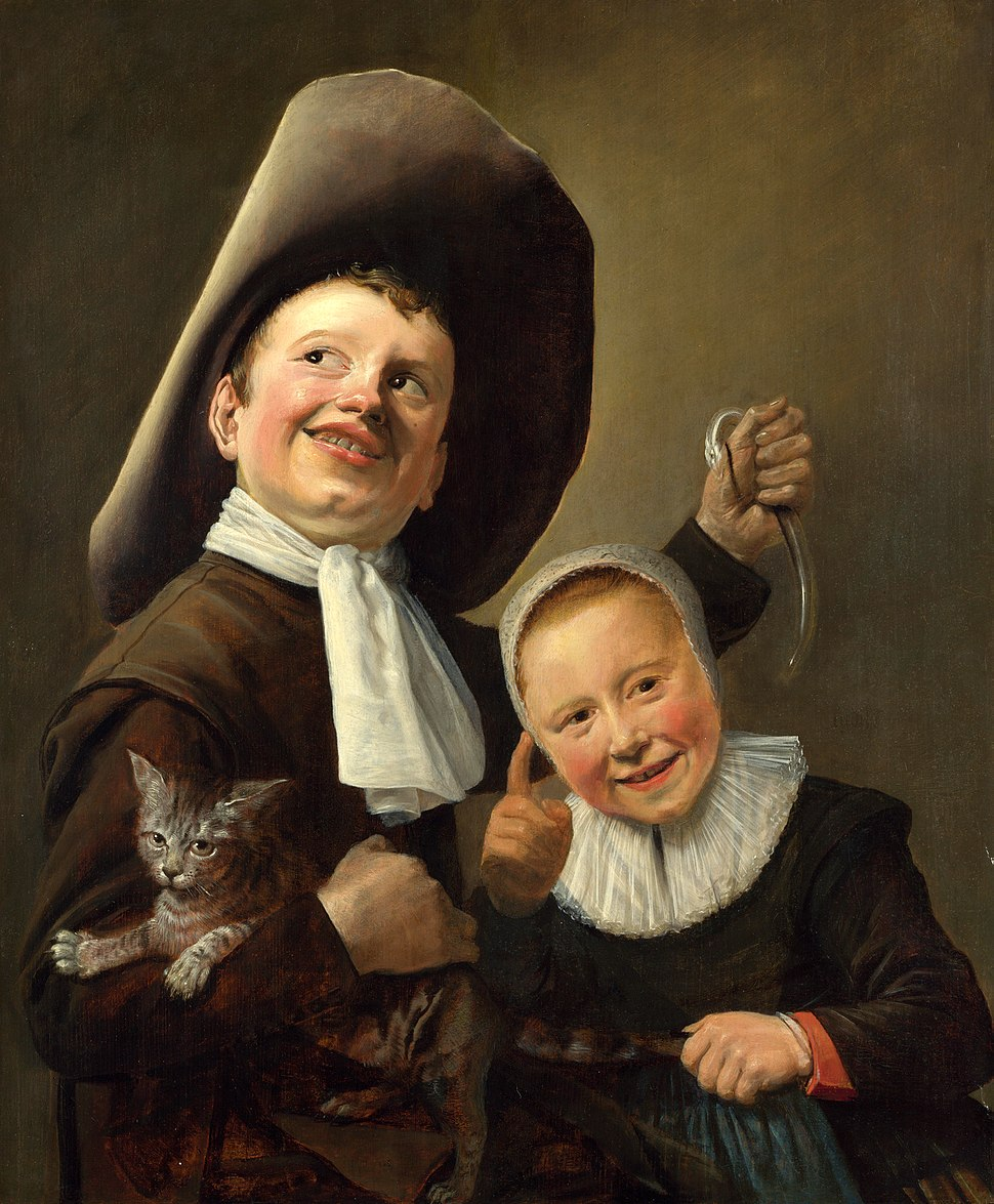 Judith Leyster A Boy and a Girl with a Cat and an Eel