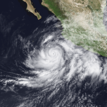 Hurricane Juliette at peak intensity on September 25, 2001