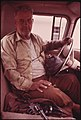 Julius Dilbeck, a Retired Miner in His Pickup Truck at Clairfield, Tennessee, North of Knoxville in Clairborne County 06-1974 (3907233330).jpg
