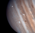 Jupiter, Io and Europa - Voyager 1 (29275215195).png