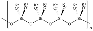 Potassium silicate chemical compound