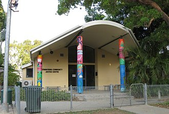 Kowanyama, Queensland - Front view of Kowanyama Community Justice Group's 'Courthouse'