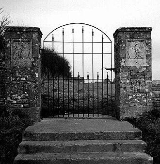 King George's Fields - Stone heraldic panels in a King George V Field gateway