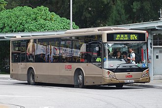 Manufacturing Commercial Vehicles - Kowloon Motor Bus MCV Evolution bodied Volvo B7RLE in Hong Kong in August 2015