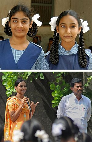 Feminism in India - Girls in Kalleda Rural School, Andhra Pradesh.