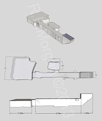 KV60 - Isometric, plan and elevation images of KV60 taken from a 3d model