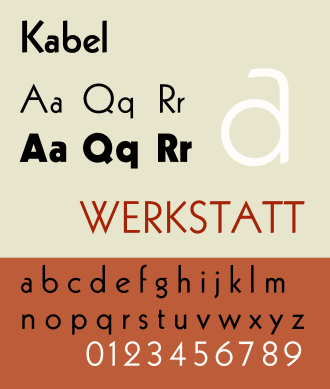 Kabel (typeface) - Image: Kabel new specimen