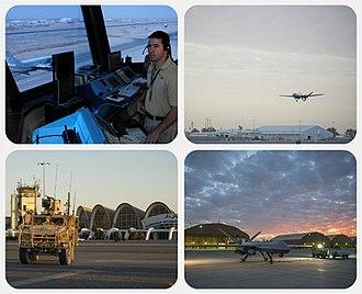 Kandahar International Airport - Image: Kandahar International Airport collage