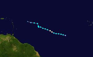 Hurricane Karen (2007) - Image: Karen 2007 track