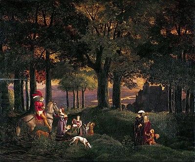 Karl Philipp Fohr - Der verirrte Ritter (1816).jpg