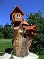 Karpaty Mukachivskyi Zakarpatska-botanical garden-Park sanatorium Carpathians-decorative houses.jpg