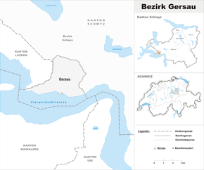 Map of Gersau District