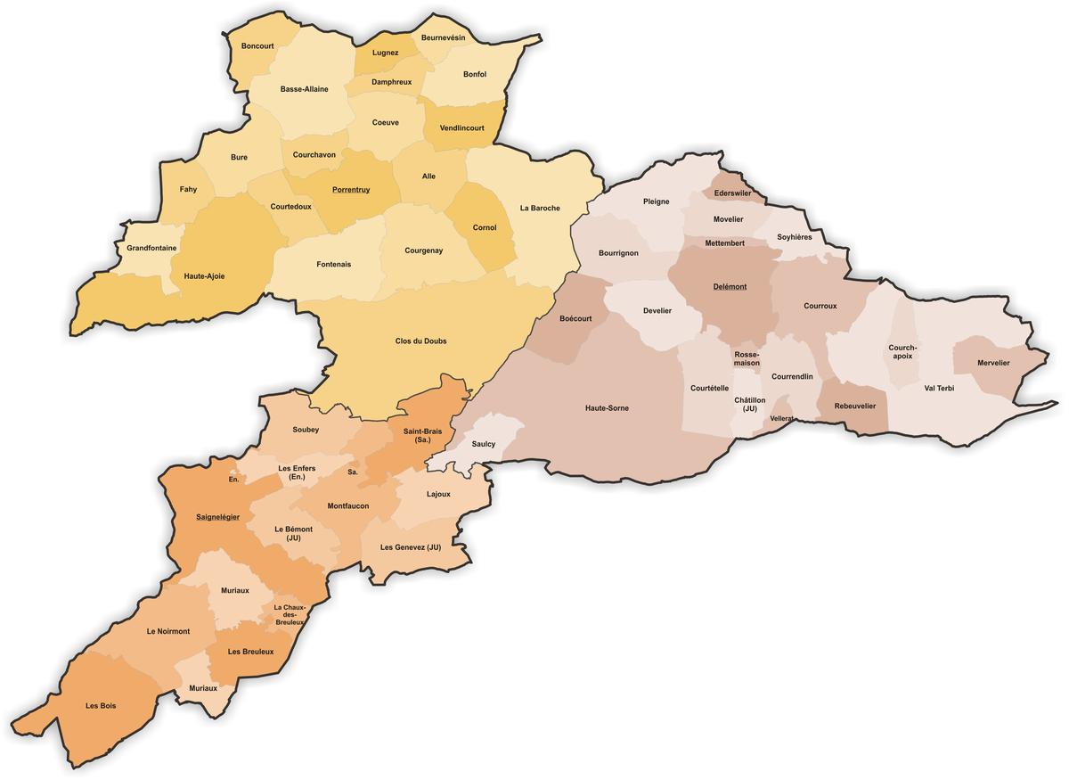 Municipalities of the canton of Jura Wikipedia